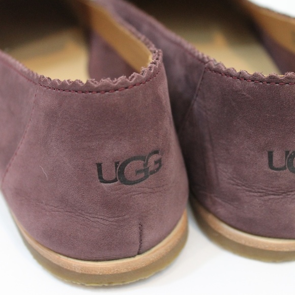 b2b60821a74 UGG VISTA FLATS LOAFERS NUBUCK SUEDE LEATHER 6.5